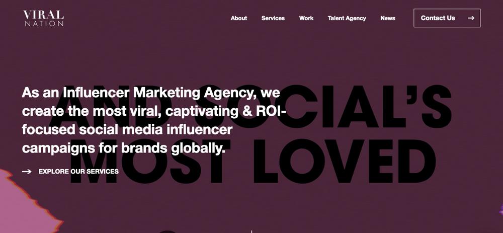 Viral nation. Top influencer marketing agency 2021